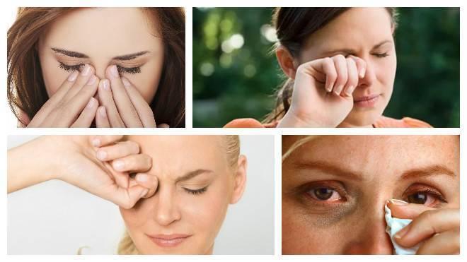 Почему глаза красные, слезятся, чешутся и болят?