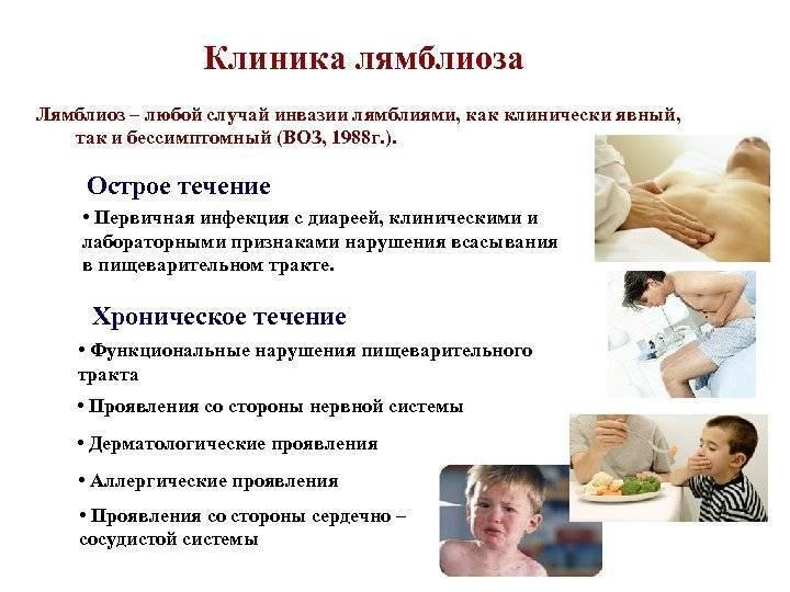 хронический лямблиоз симптомы