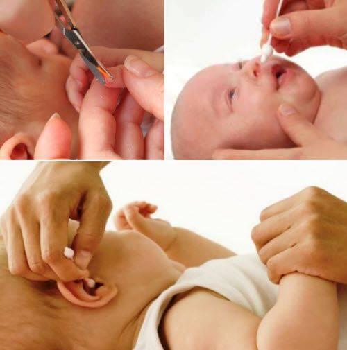 как почистить уши новорожденному
