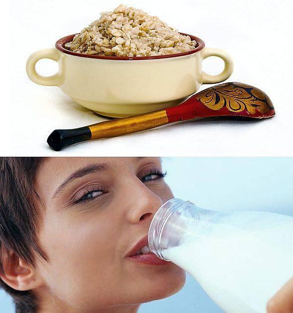 Молоко и овес против кашля