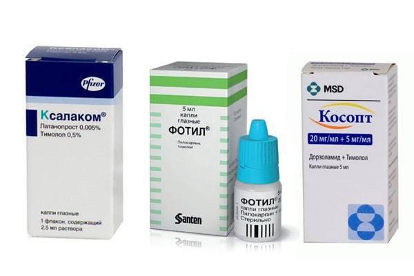глаукома лечение капли