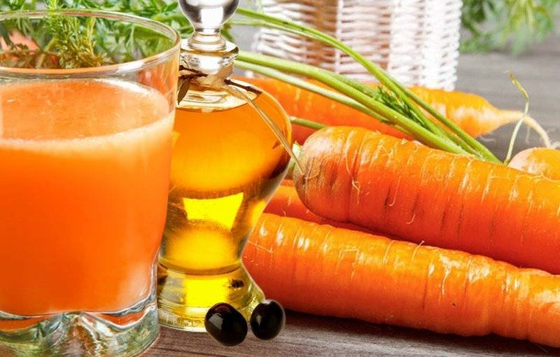 морковный сок в нос