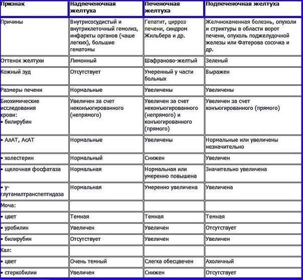 Дифференциальная диагностика механической желтухи