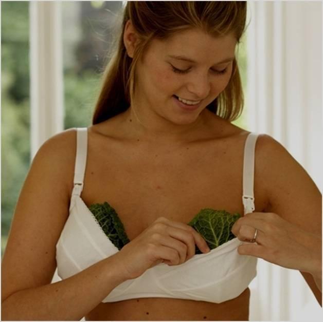 Капустный лист с маслом и солью при мастопатии