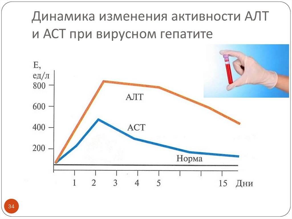показатели алт и аст при гепатите с