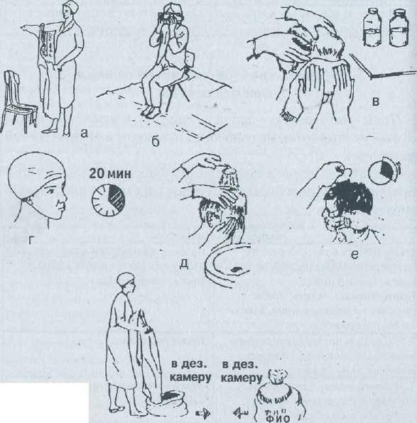 обработка пациента с педикулезом