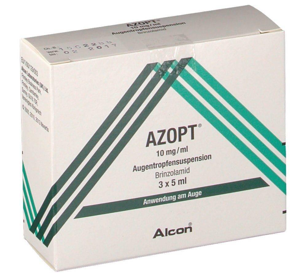 """Глазные капли от глаукомы """"азопт"""" - инструкция по применению, аналоги и отзывы, цены в аптеках."""