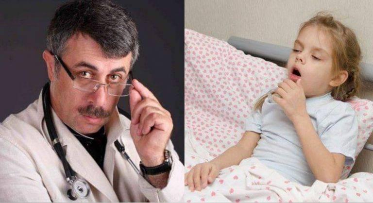 Влажный кашель у ребенка без температуры лечение комаровский