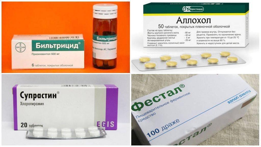 Основные принципы и препараты для лечения описторхоза