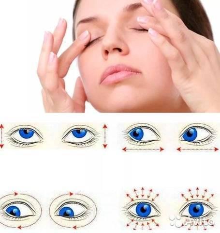 Точечный массаж для улучшения зрения.