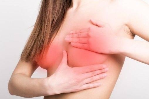 середина цикла болит грудь