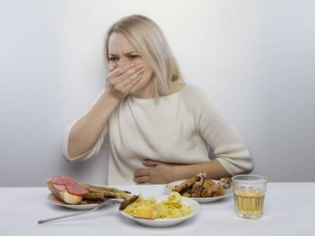 после еды начинается кашель