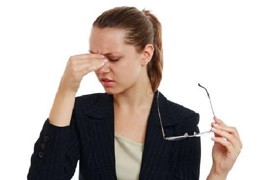 Болит переносица при нажатии и глаза