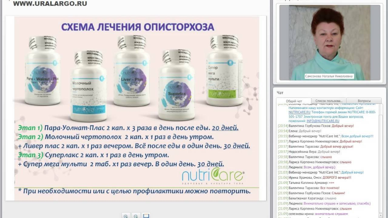 как вылечить описторхоз лекарствами