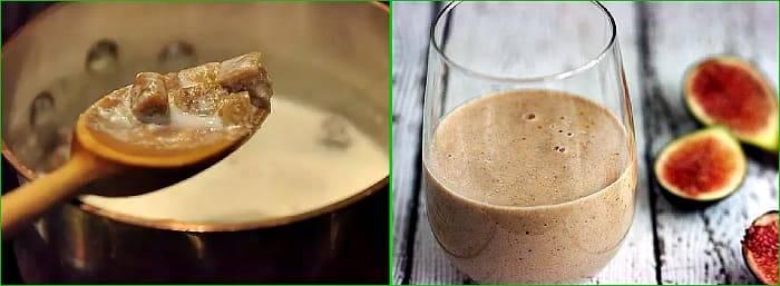 Инжир с молоком от кашля: рецепт приготовления для детей, отзывы