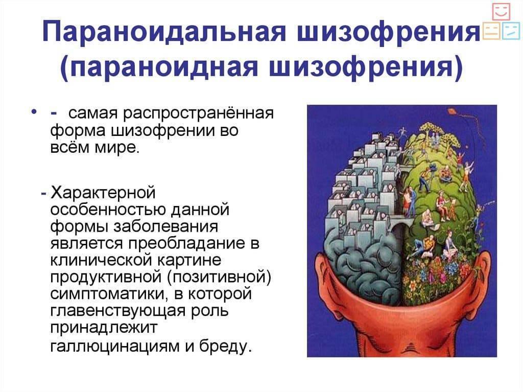 параноидная шизофрения симптомы и признаки