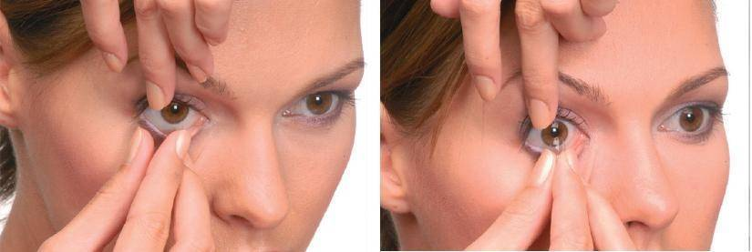 как правильно снять линзы с глаз