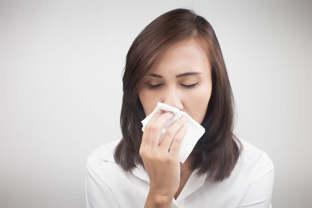 При аллергии заложен нос
