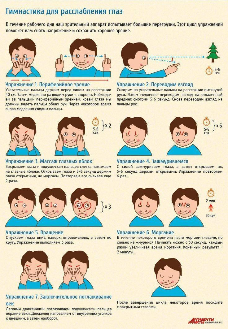 Упражнения от косоглазия у взрослых