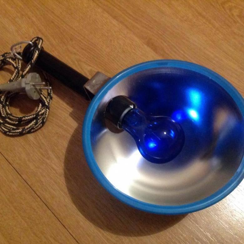 синяя лампа при насморке