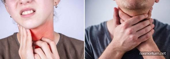 При зевании болит в горле