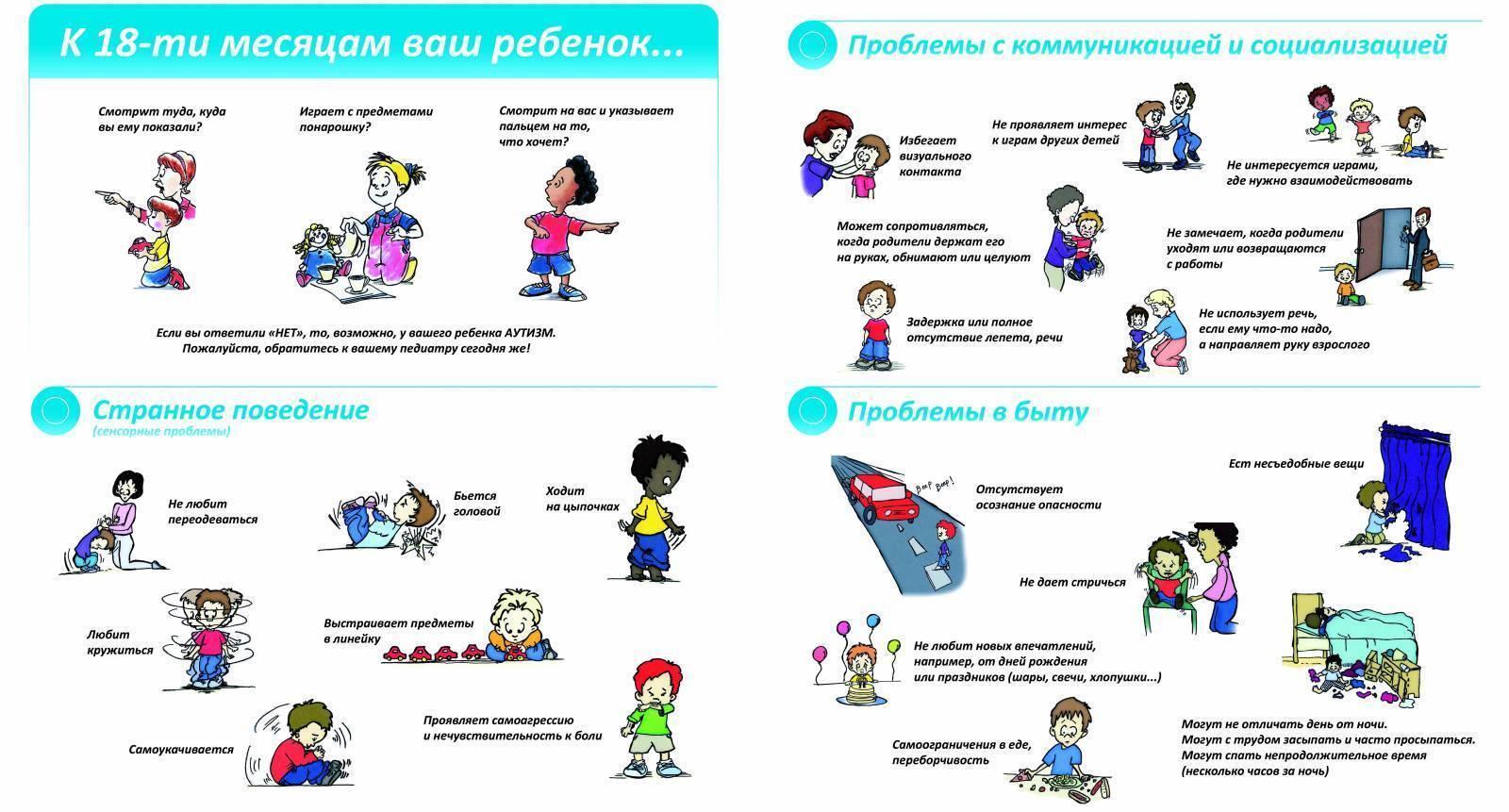 причины аутизма у новорожденных