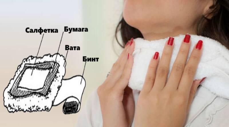 Правильное применение водочного компресса на горло при ангине