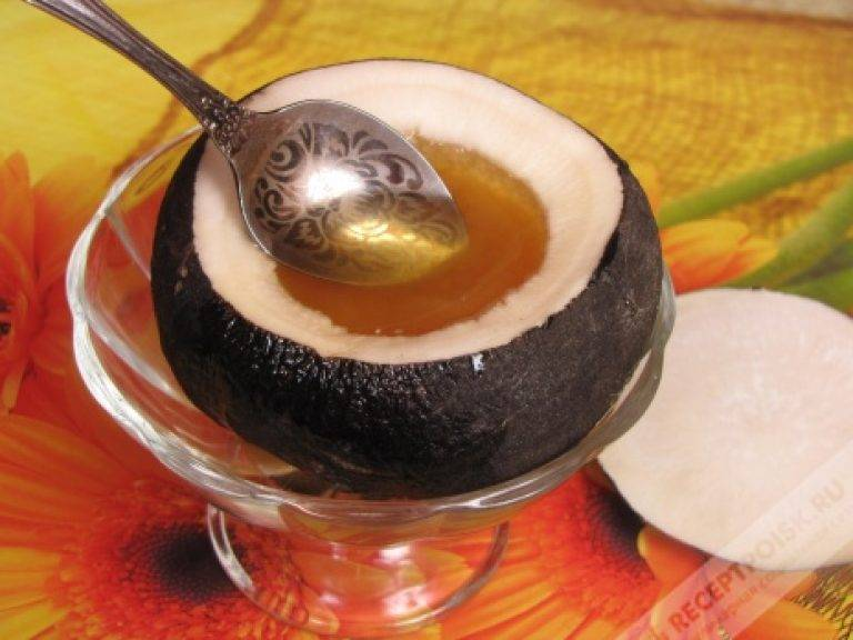 лечение кашля черной редькой с медом