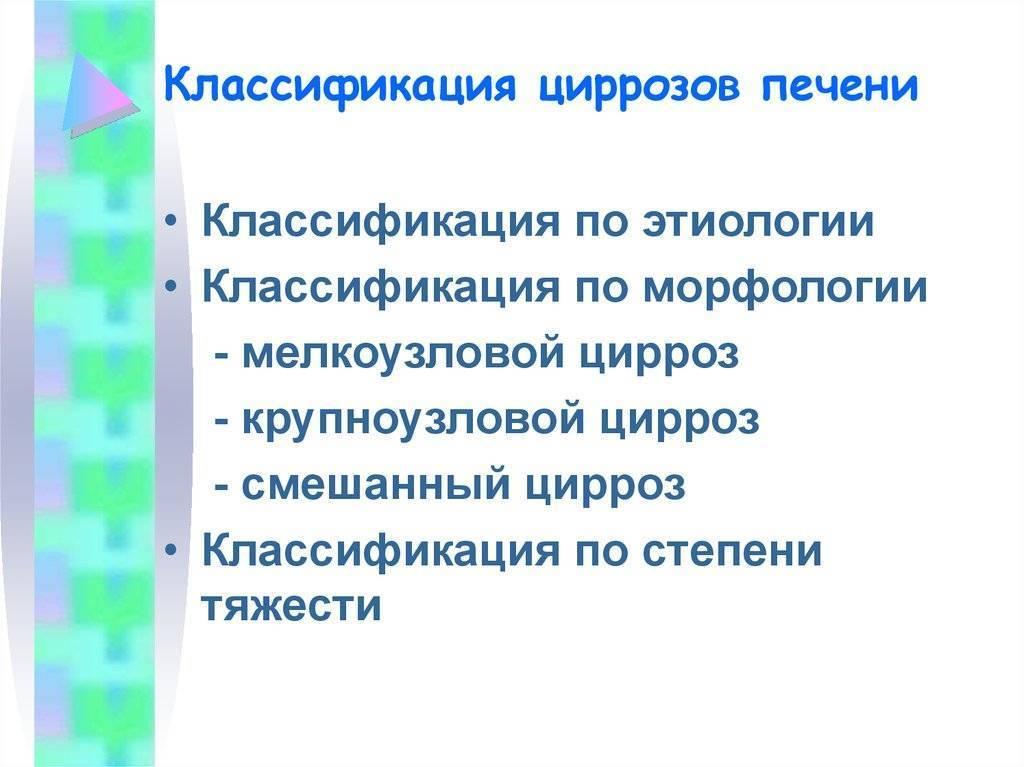 классификация цирроза