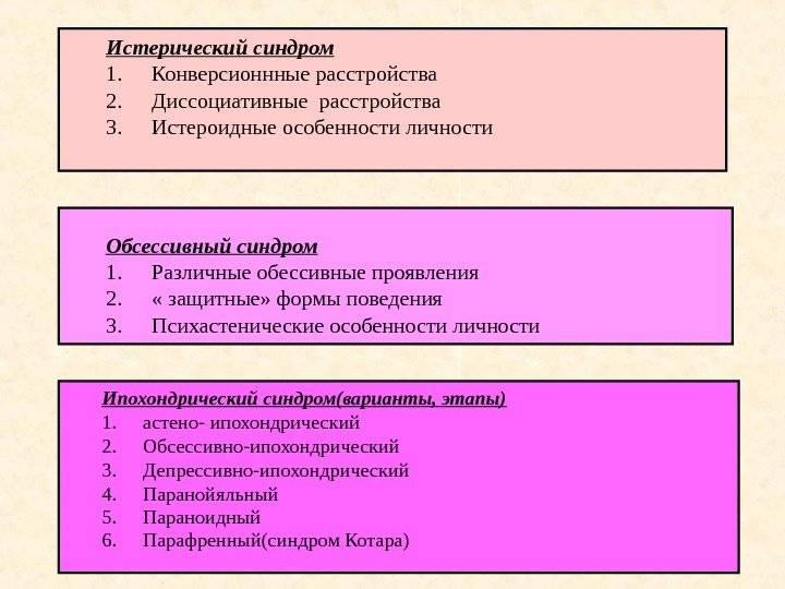 Диссоциативные расстройства