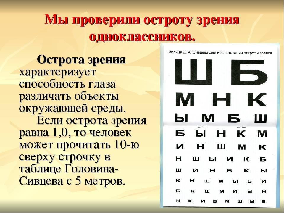 острота зрения норма