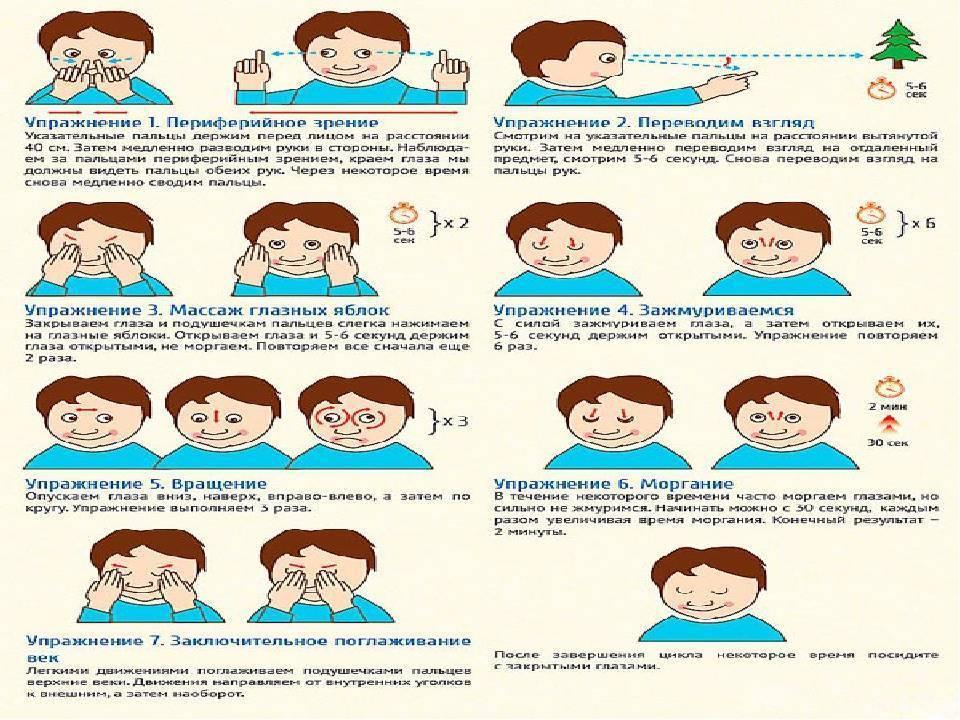 5 способов вернуть зрение: упражнения для глаз при близорукости