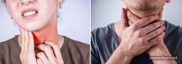 При глотание отдает в ухо и болит голова