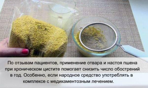 лечение цистита пшеном