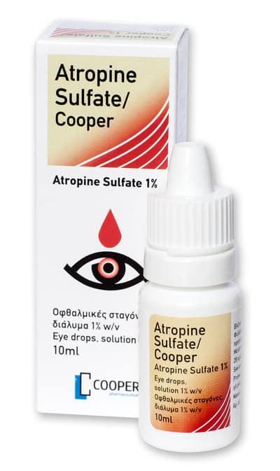 Когда назначают атропин (глазные капли)?