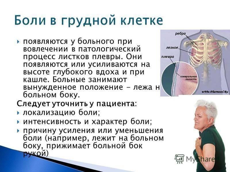 Кашель с болью в грудной клетке и отхаркивается