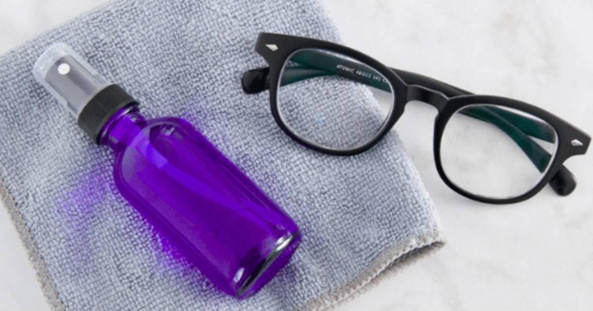 как чистить очки для зрения