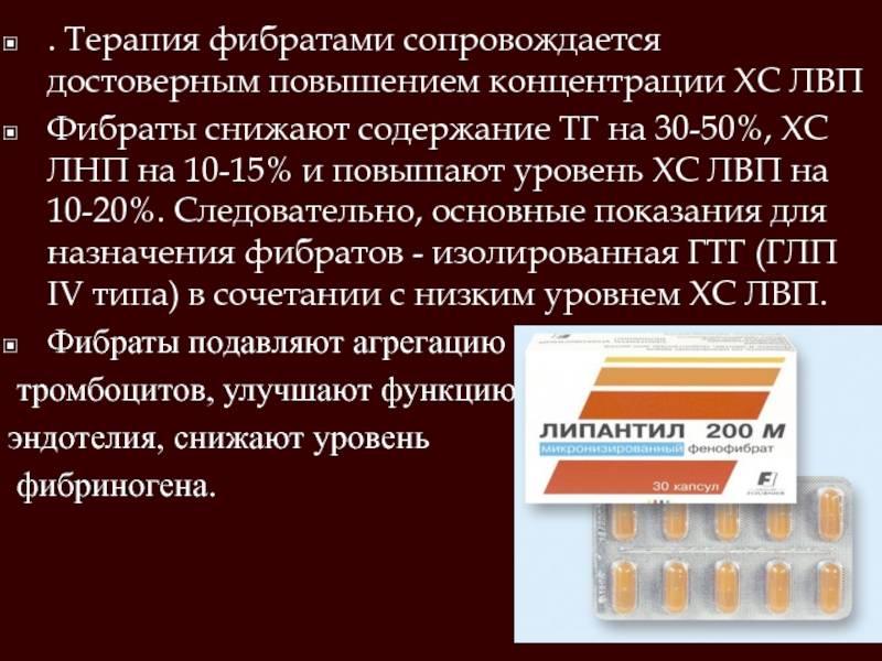 Список лучших препаратов группы фибраты для снижения уровня холестерина в крови