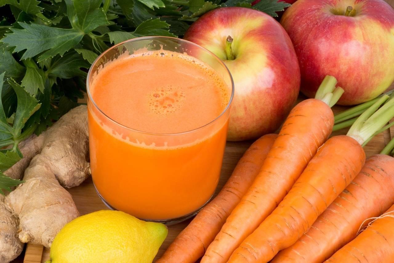 Морковный сок от насморка для младенца