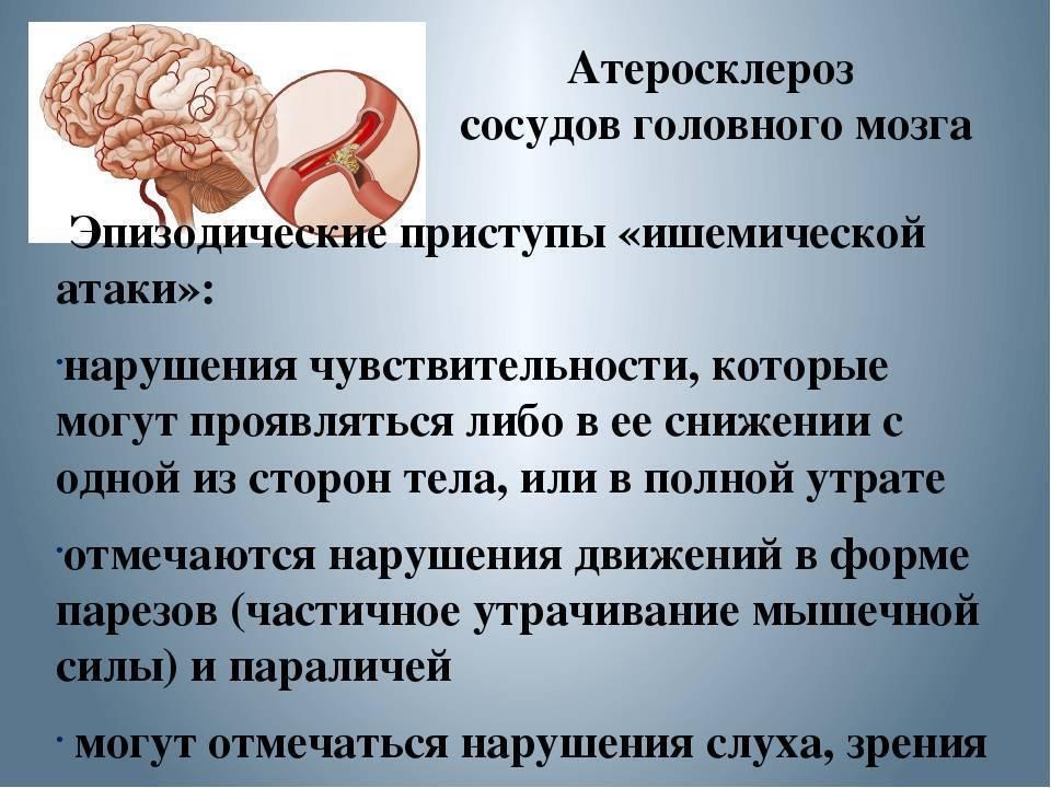 симптомы атеросклероз сосудов