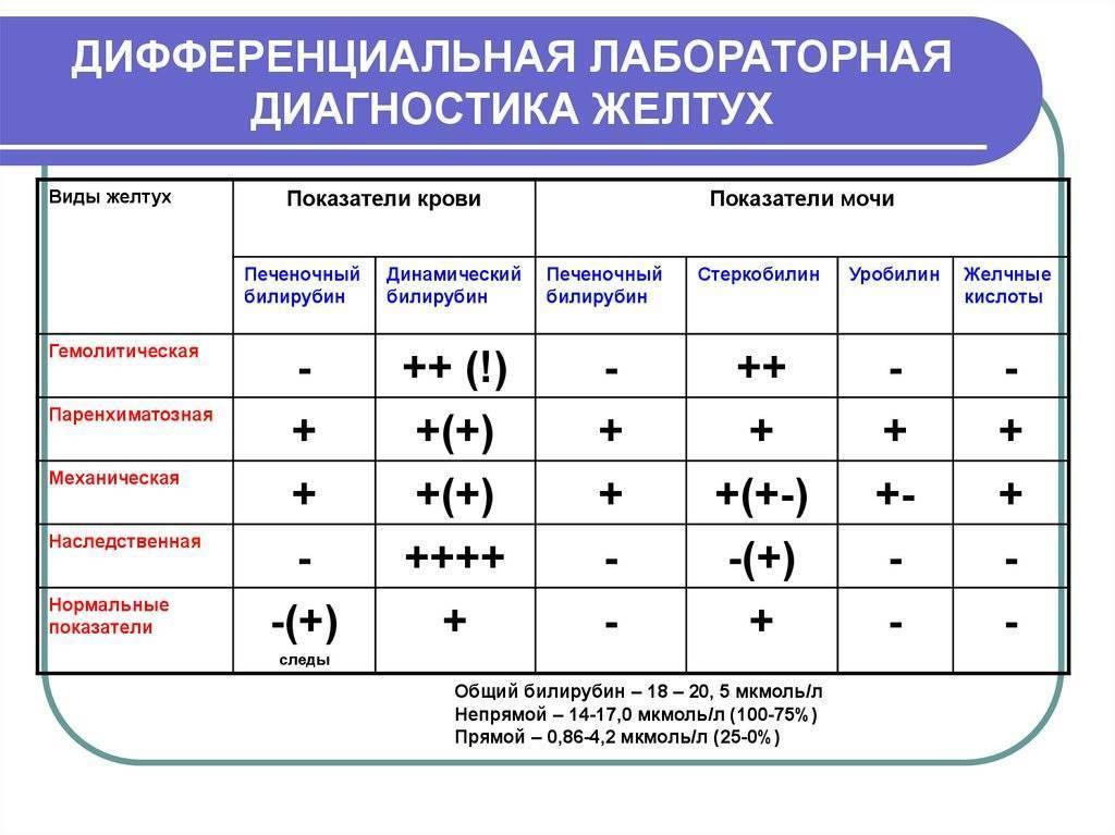 Дифдиагностика желтух