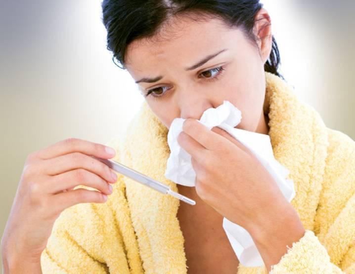 сильный кашель и температура