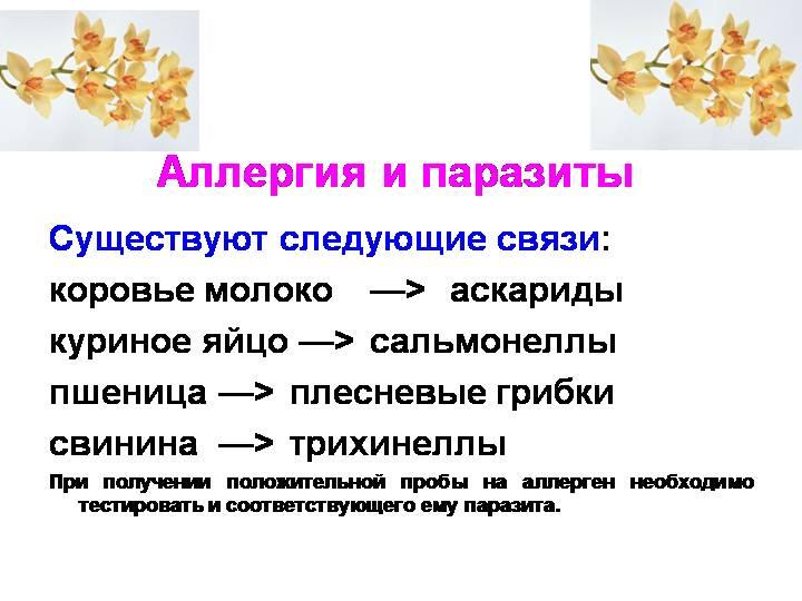 Аллергия и паразиты взаимосвязь