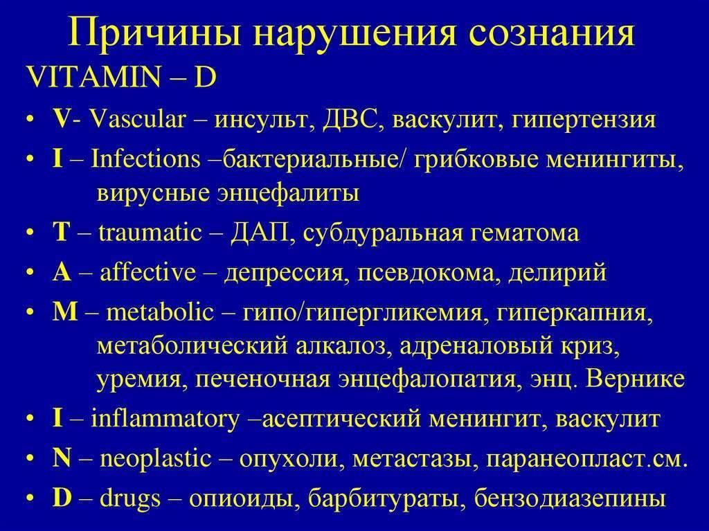 Нарушение сознания | eurolab | психическое здоровье