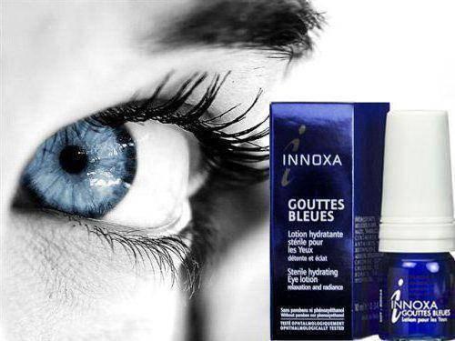 голубые капли для глаз innoxa