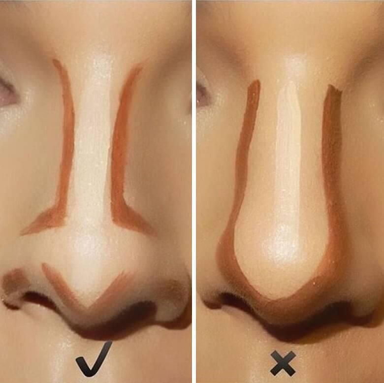 сделать нос меньше