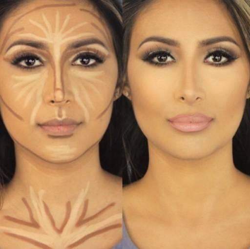 как укоротить нос с помощью макияжа