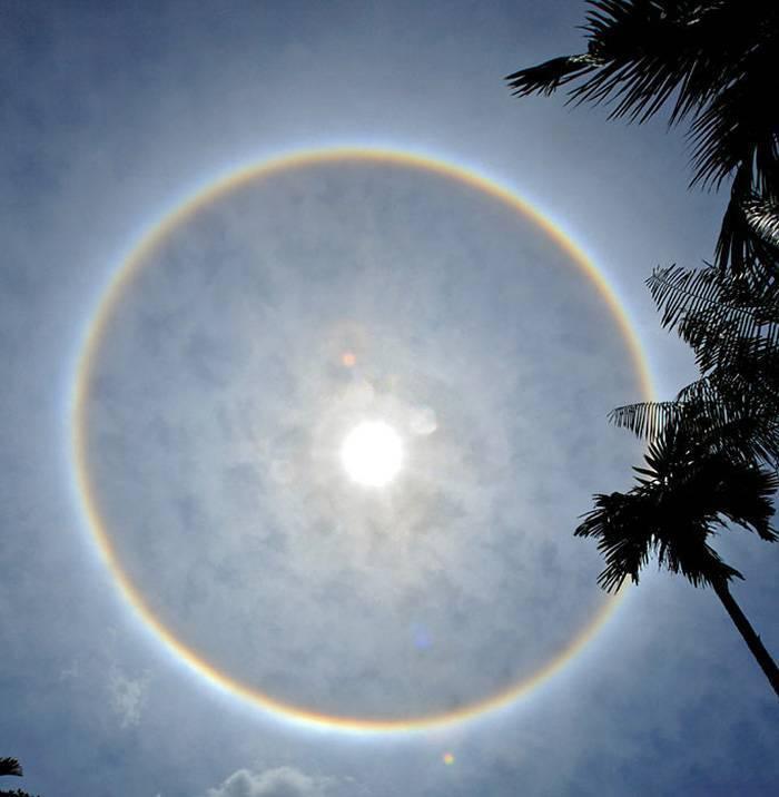 Радужный круг перед глазами