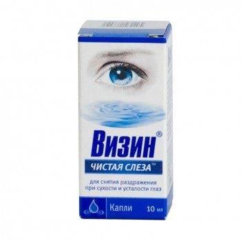 чистая слеза капли для глаз инструкция