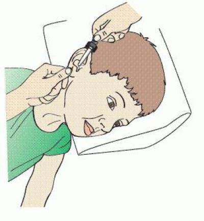 как закапать ухо